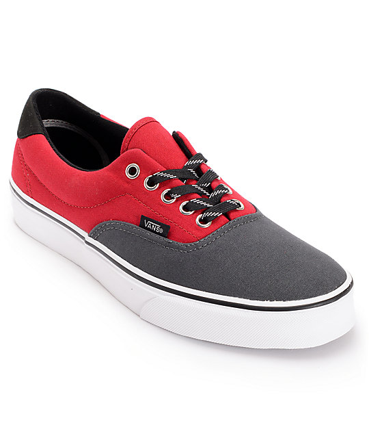 Vans Era 3-Tone Shadow & Chili Canvas Skate Shoes (Mens)