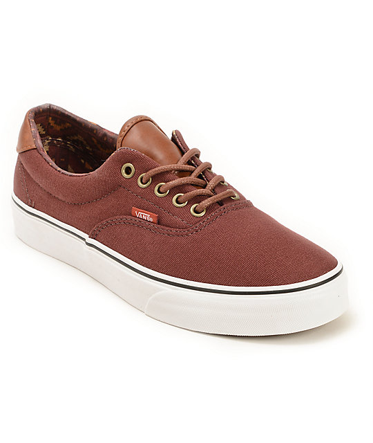 Vans Era 59 Bitter Chocolate & Tribe Rug Skate Shoes (Mens)
