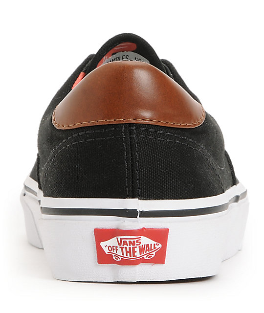 Vans Era 59 Black & Aloha Print Canvas Skate Shoes