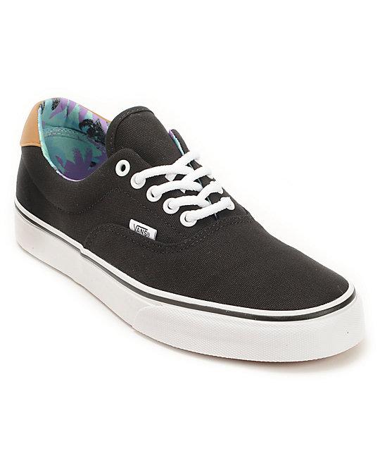 Vans Era 59 Black & Beach Glass Skate Shoes (Mens)