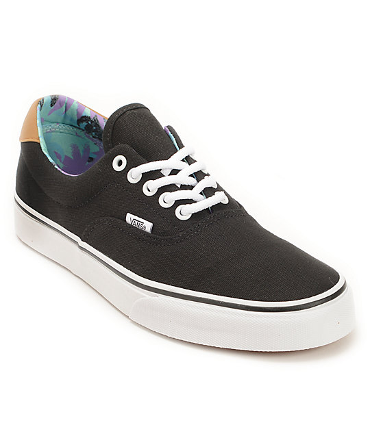 Vans Era 59 Black & Beach Glass Skate Shoes
