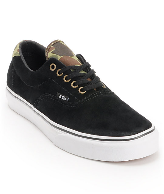 Vans Era 59 Black & Camo Skate Shoes