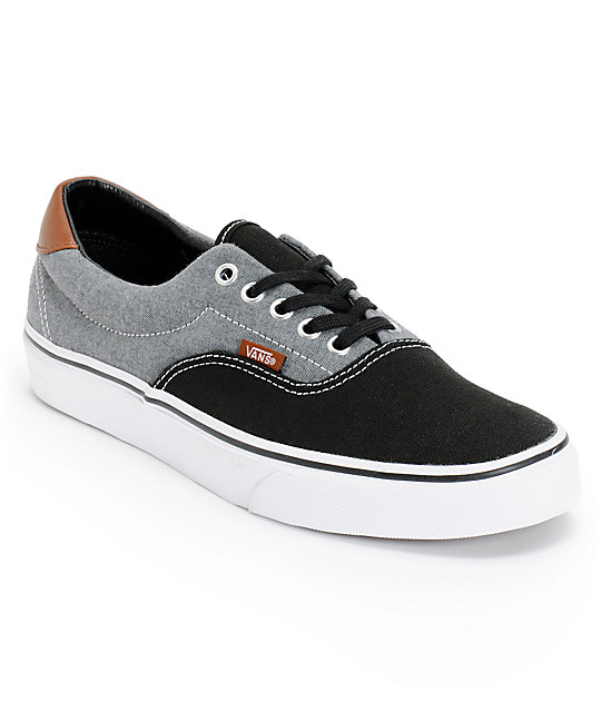 Vans Era 59 Black Canvas amp Chambray Shoes At Zumiez PDP