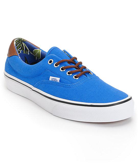 Vans Era 59 Blue & Aloha Print Canvas Skate Shoes (Mens)