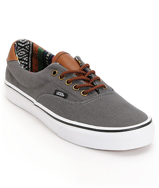 Vans Era 59 Charcoal & Guate Canvas Skate Shoes (Mens)
