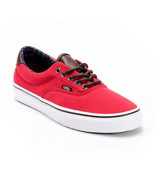 Vans Era 59 Chili Pepper Canvas Skate Shoes