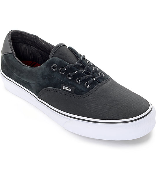 Vans Era 59 DLX Black Reflective Skate Shoes (Mens)