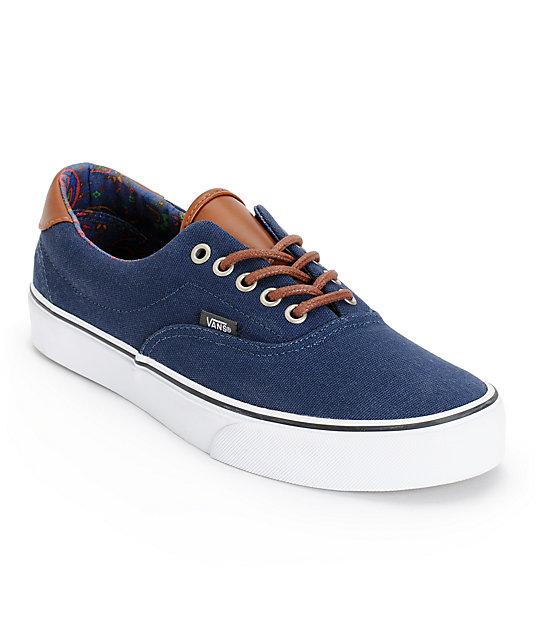 Vans Era 59 Dress Blues & Paisley Skate Shoes (Mens)