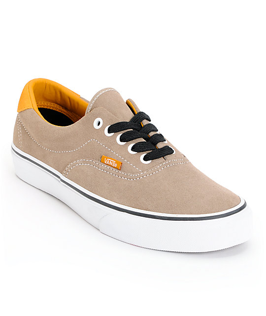 Vans Era 59 Earth Timber & Wolf Grey Suede Skate Shoes (Mens)