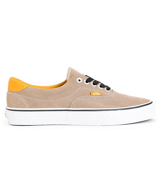 Vans Era 59 Earth Timber & Wolf Grey Suede Skate Shoes