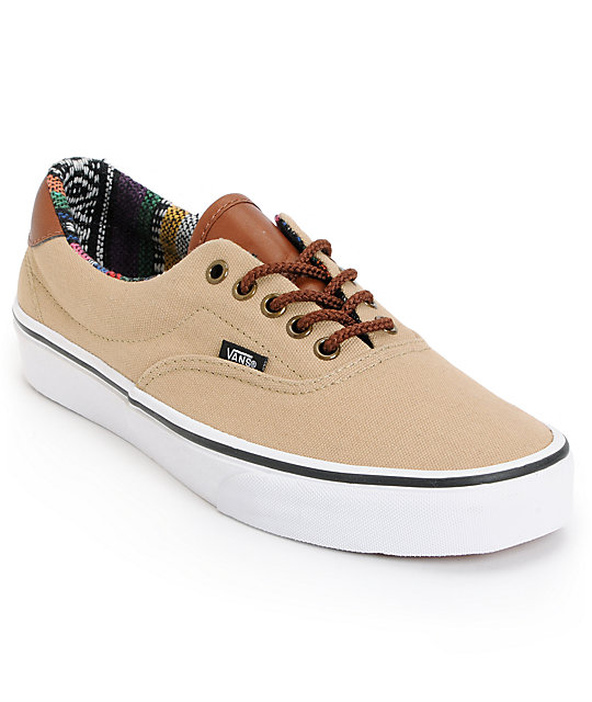 Vans Era 59 Khaki & Guate Canvas Skate Shoes (Mens)