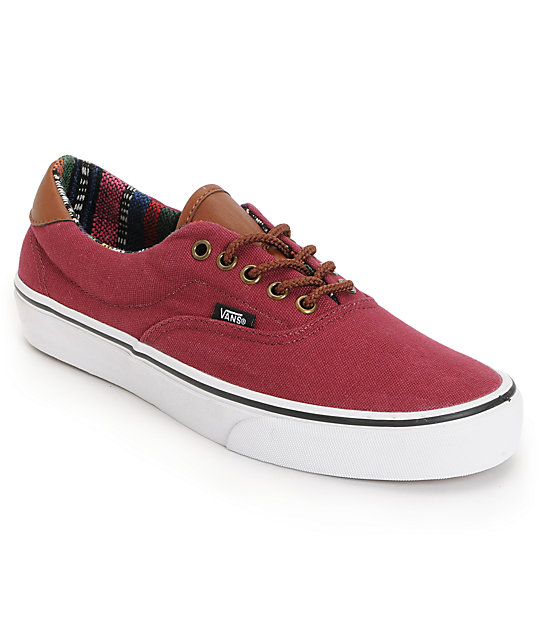 Vans Era 59 Tawny Port & Guate Canvas Skate Shoes (Mens)