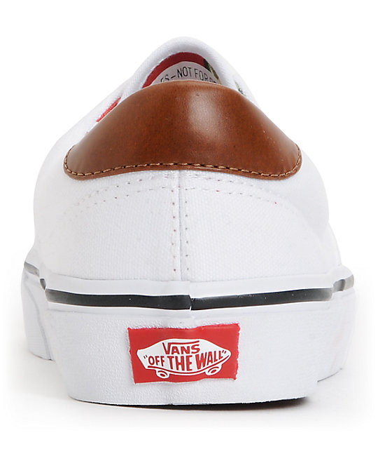 Vans Era 59 True White & Aloha Print Canvas Skate Shoes