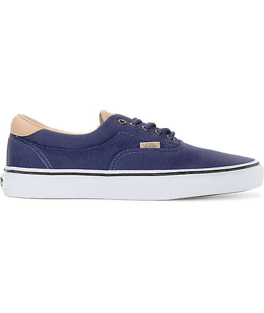 Vans Era 59 Veggie Tan & Blue Skate Shoes