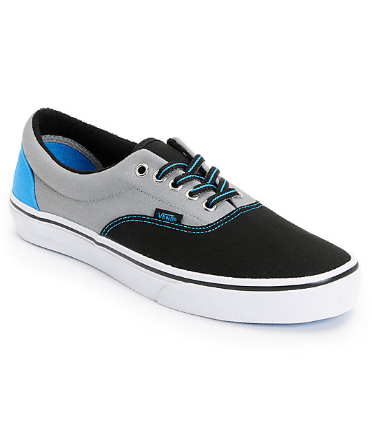 Vans Era Black & Frost Tri-Tone Canvas Skate Shoes (Mens)