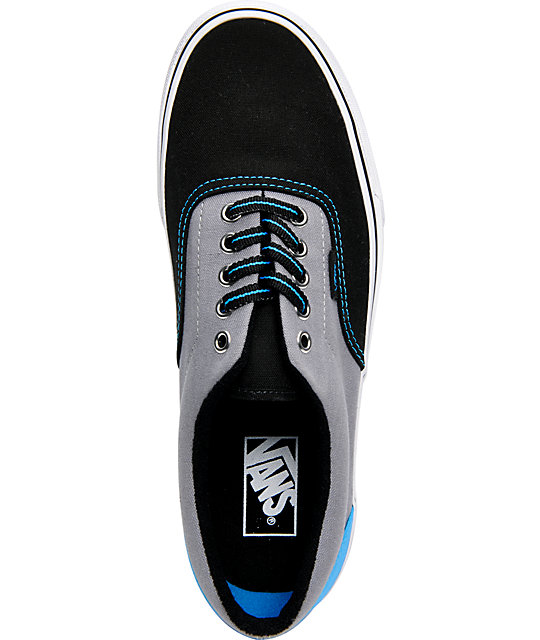 Vans Era Black & Frost Tri-Tone Canvas Skate Shoes