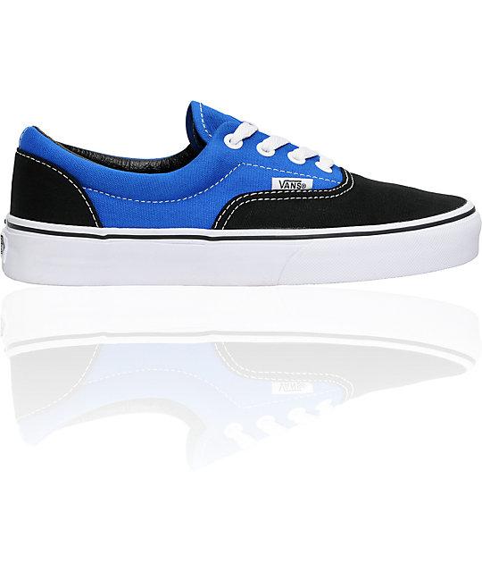 Vans Era Black & Royal Skate Shoes