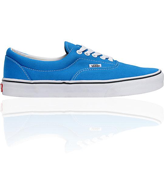 Vans Era Brilliant Blue & White Skate Shoes