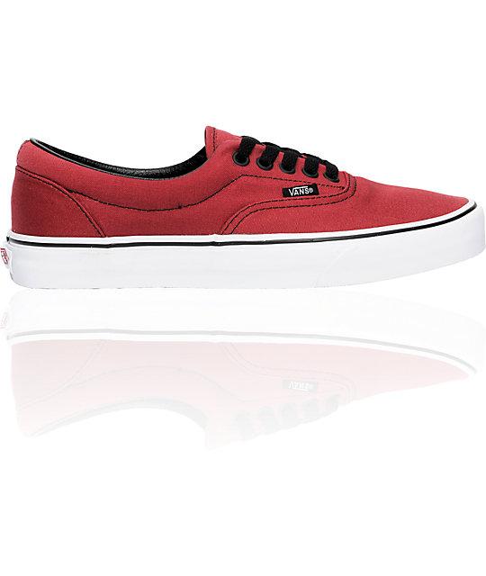 Vans Era Burgundy & Black Skate Shoes (Mens)