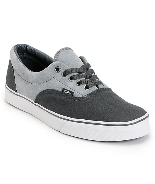 Vans Era Charcoal & Grey Skate Shoes (Mens)