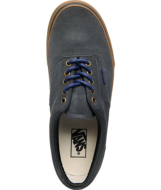 Vans Era Dark Shadow & Gum Suede Skate Shoes