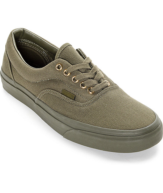 Vans Era Gold Mono Ivy Green Skate Shoes At Zumiez Pdp