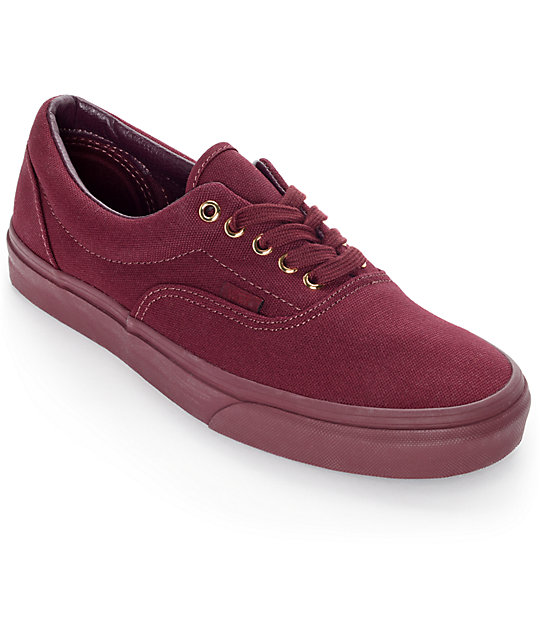 Vans Era Gold Mono Port Royale Skate Shoes at Zumiez : PDP
