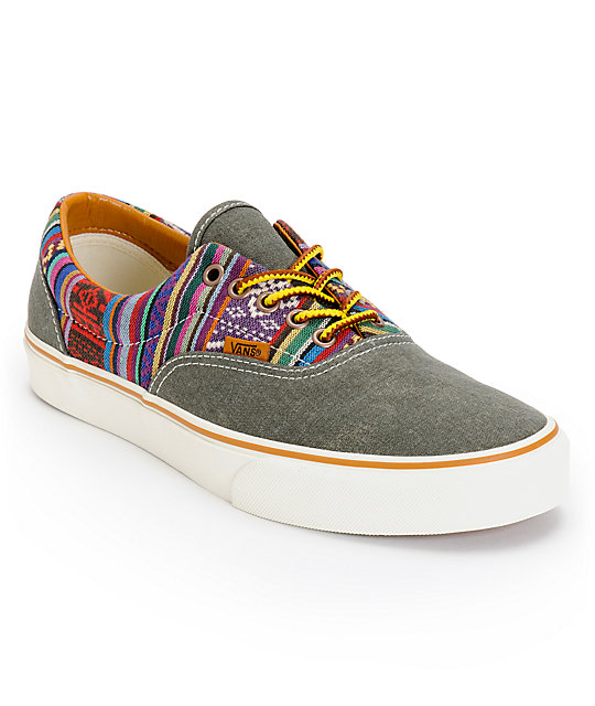 Vans Era Guate Olive Night Canvas Skate Shoes (Mens)