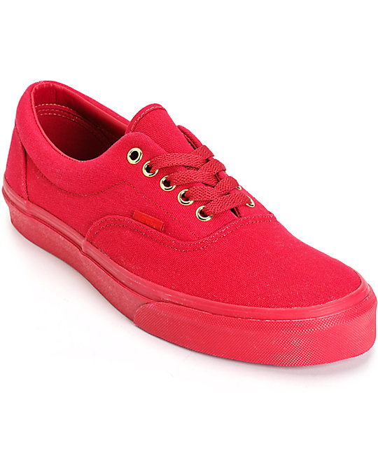 Vans Era Mono Crimson Skate Shoes (Mens)