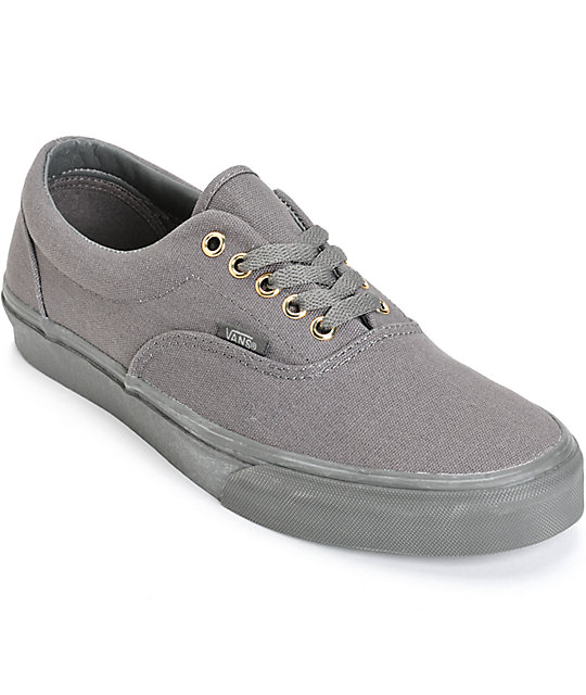 Vans Era Mono Grey Skate Shoes (Mens)