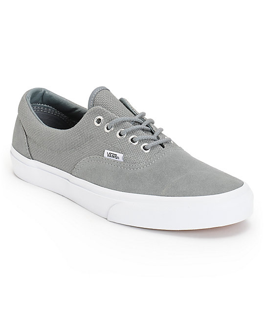 Vans Era Monument Grey & True White Hemp Skate Shoes (Mens)