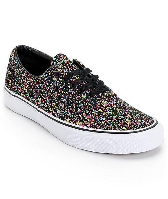 Vans Era Overspray Black Skate Shoes (Mens)