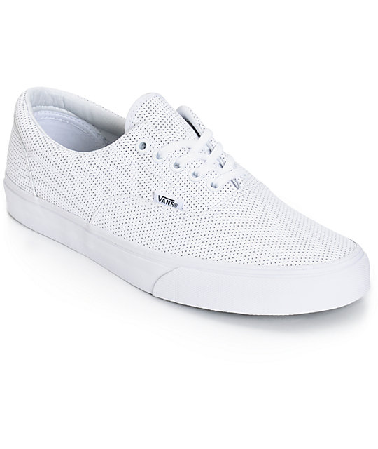 Vans Era Perforated Leather Skate Shoes (Mens)