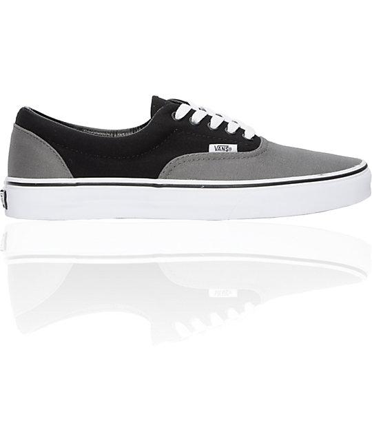 Vans Era Pewter & Black Skate Shoes