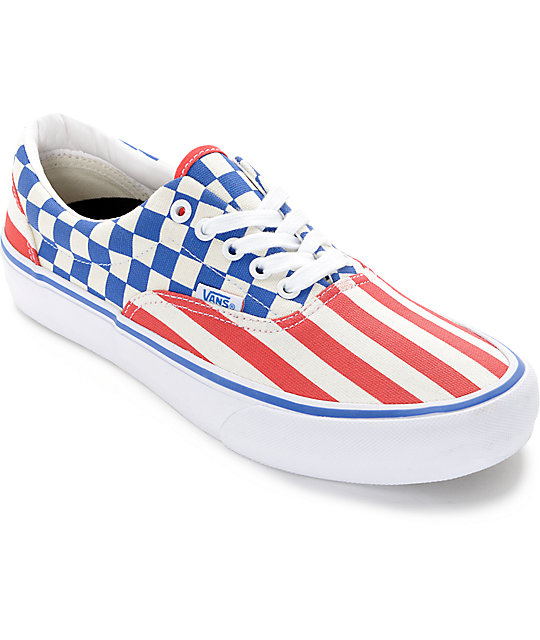 Vans Era Pro 50th 83 Stripes and Checkers Skate Shoes