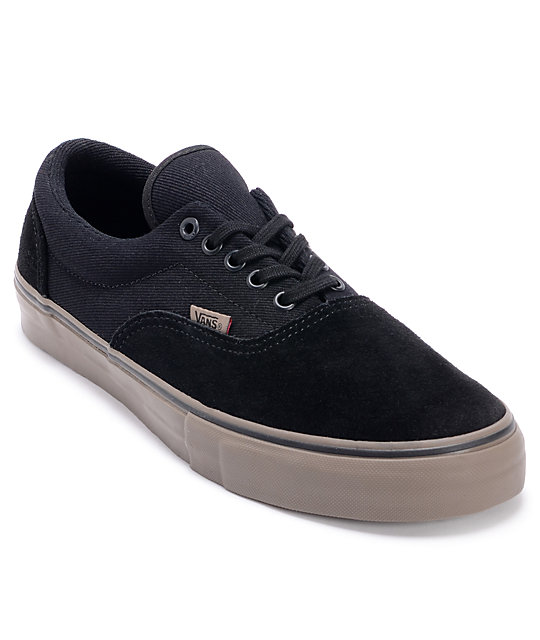 Vans Era Pro Black & Walnut Skate Shoes (Mens)
