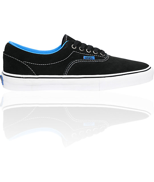 Vans Era Pro Black Tuff & Blue Skate Shoes