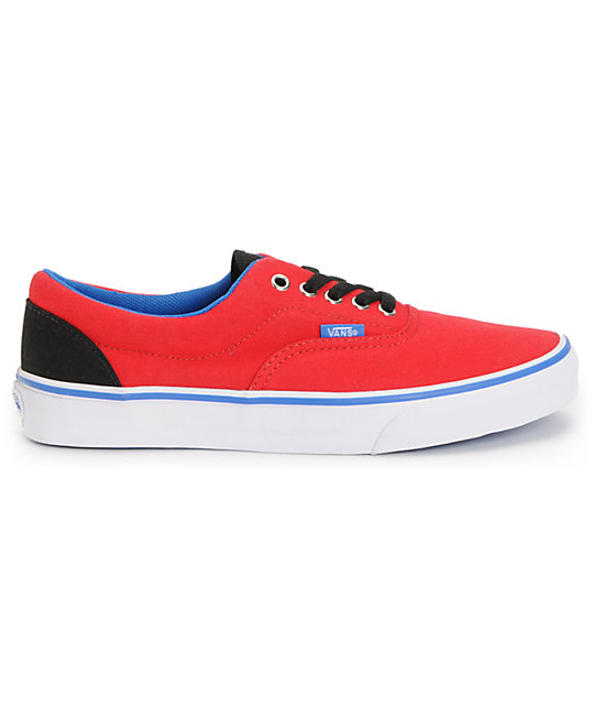 Vans Era Red, Blue, & Black Canvas Skate Shoes