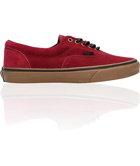 Vans Era Tawny Port & Gum Suede Skate Shoes