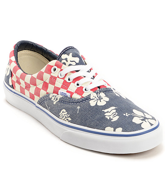 Vans Era Van Doren Aloha & Checker Canvas Skate Shoes (Mens)