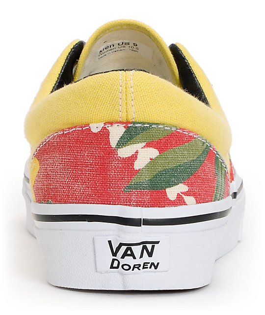 Vans Era Van Doren Hawaiian Red Canvas Skate Shoes