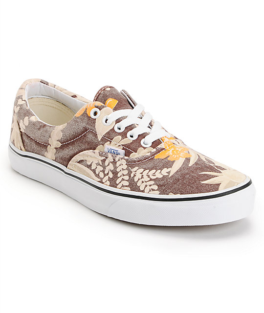 Vans Era Van Doren Maroon & Hawaiian Skate Shoes (Mens)