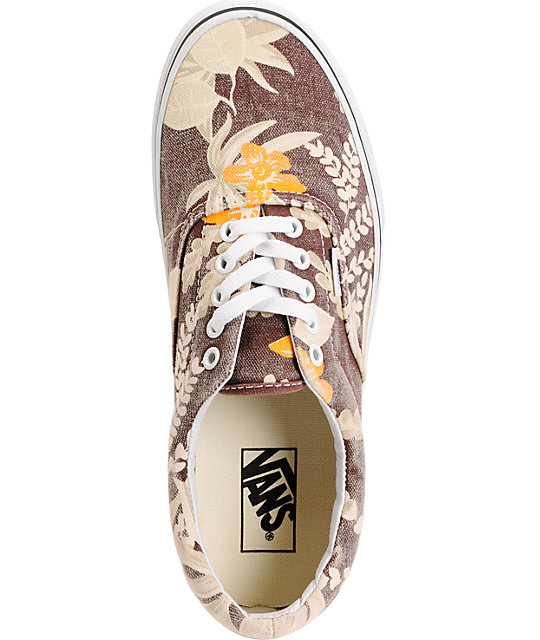 Vans Era Van Doren Maroon & Hawaiian Skate Shoes