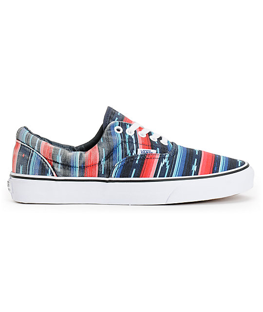 Vans Era Van Doren Multi Stripe Blue Canvas Skate Shoes