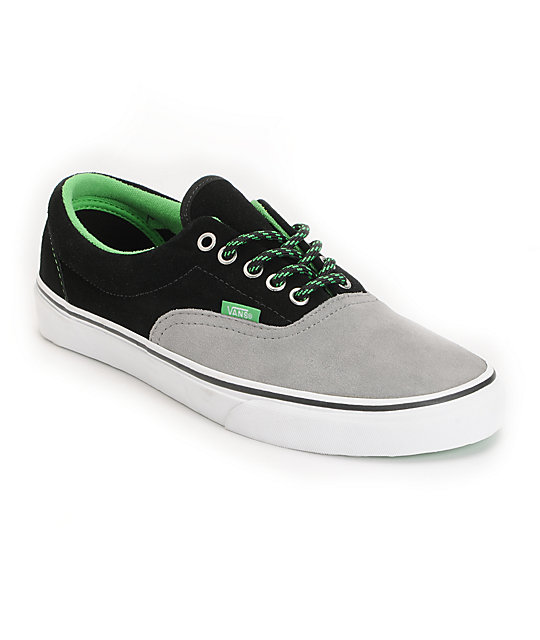 Vans Era Wild Dove & Poison Green Skate Shoes (Mens)