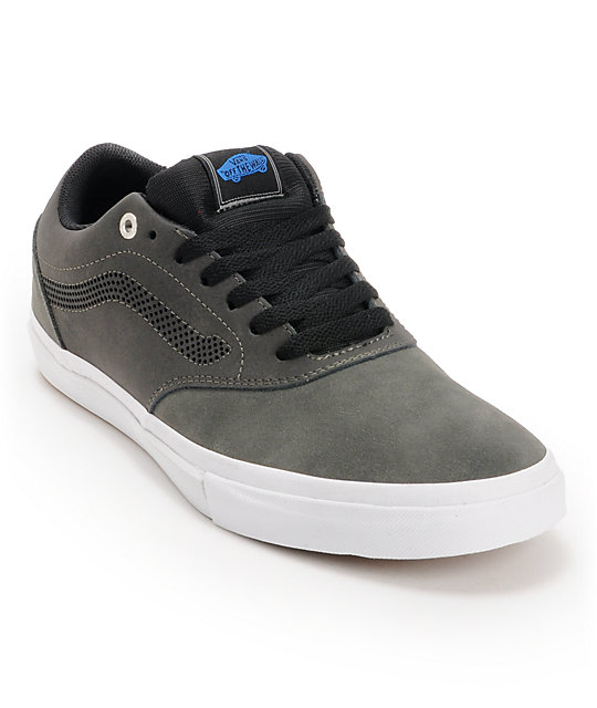 Vans Euclid Charcoal & Black Suede Skate Shoes (Mens)