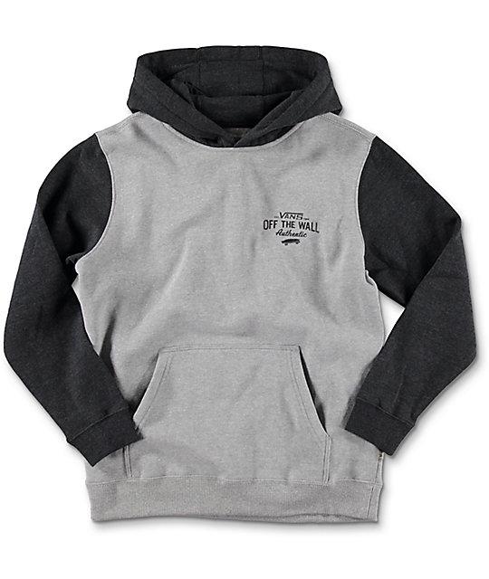 Vans Fairton Boys Cement & Black Heather Hoodie