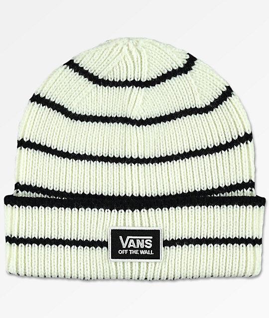 Vans Falcon Marshmallow & Black Beanie