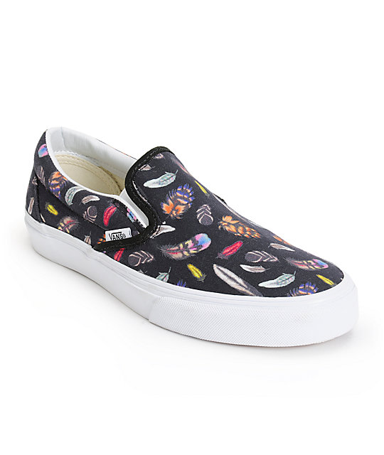 Vans Feathers Slip On Shoes (Womens)