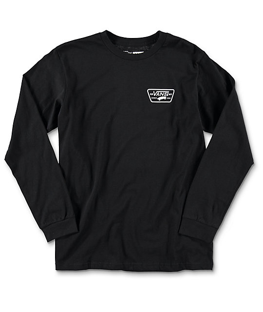Vans Full Patch Boys Black Long Sleeve T-Shirt